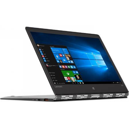 "Laptop Lenovo Yoga 900S 12.5"", QHD IPS Touch, Intel Core M7-6Y75, 8GB, 512GB SSD, GMA HD 515, Win 10 Home, Silver"