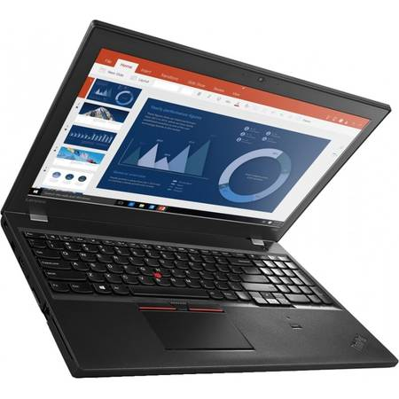 Laptop Lenovo ThinkPad T560 15.6'', WQHD IPS, Intel Core i7-6600U, 8GB, 256GB SSD, GeForce 940MX 2GB, FingerPrint Reader, Win 7 Pro + Win 10 Pro, Black