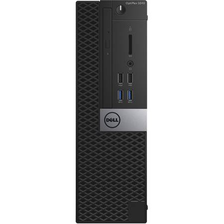 Sistem Desktop Dell Optiplex 5040 SFF, Intel Core i5-6500  Intel Graphics, RAM 8GB (2x4G) 1600MHz DDR3L, HDD 500GB 7200rpm, DVD+/-RW, Sursa 180W, Mouse+ Tastatura, Ubuntu Linux 14.04 SP1