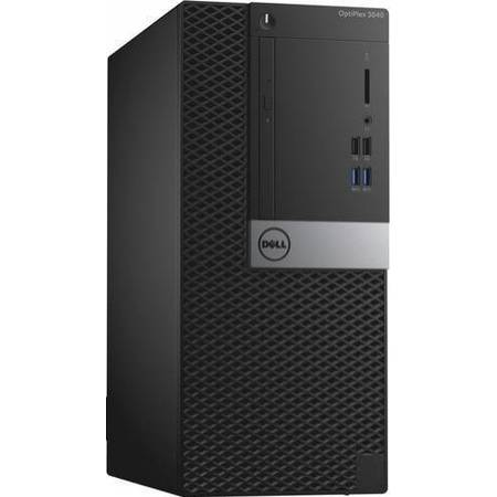 Sistem Desktop Dell OptiPlex 3040 MT, Intel Core i5-6500 Procesor (Quad Core, 6MB, 4T, 3.2GHz, 65W), Intel HD Graphics 530, 4GB 1600MHz DDR3L, 500GB, Dell Optical Mouse-MS116 - Black, Dell Entry Keyboard KB216 Black, Windows 7 Pro