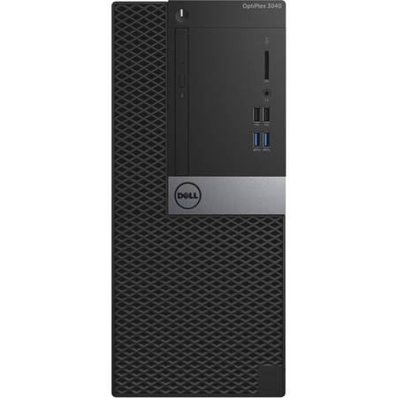 Sistem Desktop Dell OptiPlex 3040 MT, Intel Core i3-6100 Procesor (Dual Core, 3MB, 4T, 3.7GHz, 65W), 4GB 1600MHz DDR3L, 500GB, Mouse-MS116 - Black, Keyboard KB216 Black, windows 7 Pro