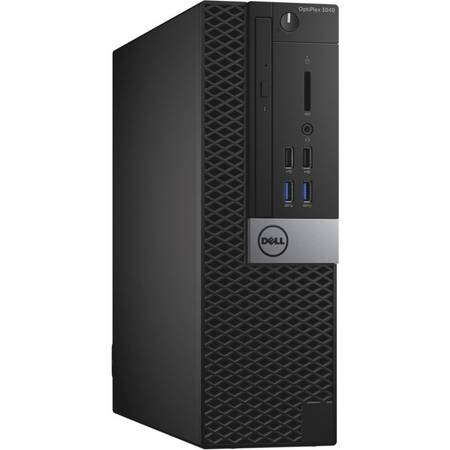 Sistem Desktop Dell OptiPlex 3040 SFF, Intel Core i3-6100 Procesor, 4GB 1600MHz DDR3L, 500GB, Mouse-MS116 - Black, Dell Keyboard KB216 Black, Ubuntu Linux 14.04 SP1