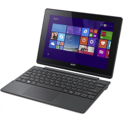 """Laptop 2-in-1 Acer Aspire Switch 10 E, 10.1"""" WXGA Touch, Intel Atom Z3735F up to 1.83 GHz, 2GB, 64GB eMMC, GMA HD, Win 10 Home, Gray"""