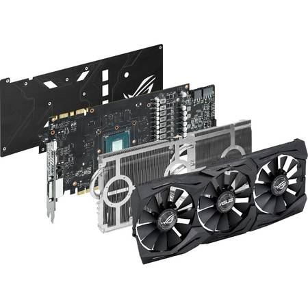 Placa video Asus NVIDIA STRIX-GTX1080-8G-GAMING, GTX 1080, GDDR5X 8GB, 256bit