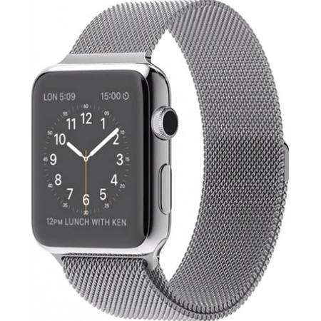 Apple Watch 42 MM Carcasa din Otel Inoxidabil si Curea Magnetica Milanese