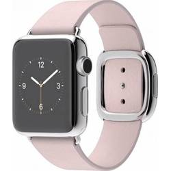 Apple Watch 38 MM Carcasa din Otel Inoxidabil Si Curea Modern Roz S