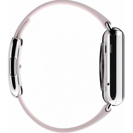 Apple Watch 38 MM Carcasa din Otel Inoxidabil si Curea Modern Roz M