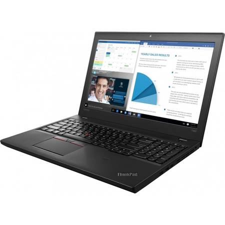 Laptop Lenovo ThinkPad T560, 15.6'' FHD IPS, Intel Core i7-6600U, up to 3.40 GHz, 8GB, 256GB SSD, GMA HD 520, FingerPrint Reader, Win 7 Pro + Win 10 Pro, Black