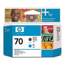 HP C9404A INK 70 Printheads Matte Black and CYAN C9404A