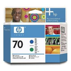 HP C9408A INK 70 Printhead Blue and Green C9408A