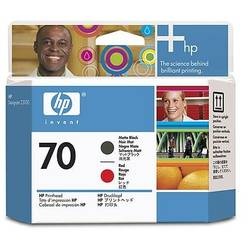 HP C9409A INK 70 Printhead Matte Black and Red C9409A