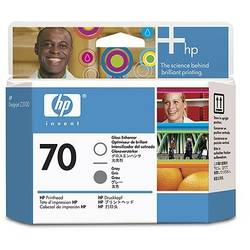 HP C9410A INK 70 Printhead Gloss Enhancer and Gray Printhead C9410A
