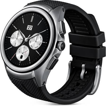 Ceas SmartWatch LG Watch Urbane 2nd Edition, 3G, W200E Silver Black