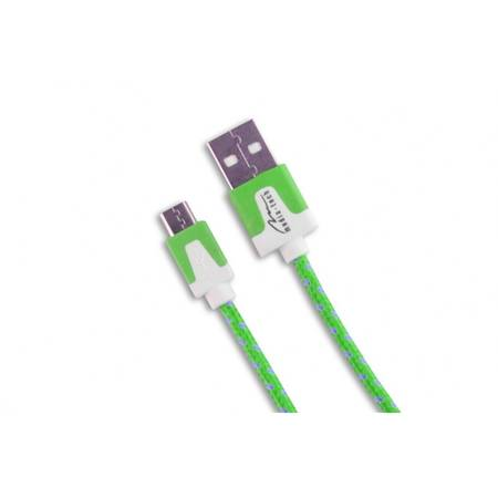MEDIATECH CABLU MICROUSB VERDE  MEDIA-TECH MT5102GR