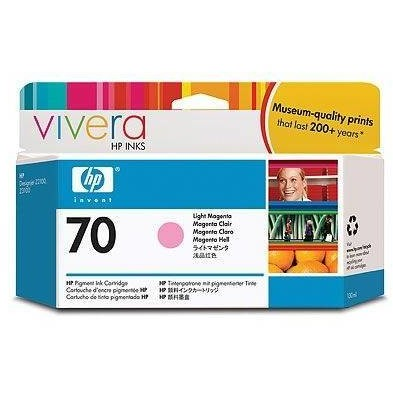 Hp C9455a Ink 70 Cartridge Light Magenta 130ml C9455a