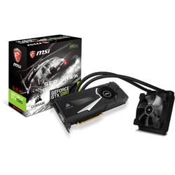 Placa video MSI NVIDIA GeForce GTX 1080 SEA HAWK X, PCI Expressx16 3.0, 8192MB GDDR5X , 256bit, 1607MHz/1847 MHz