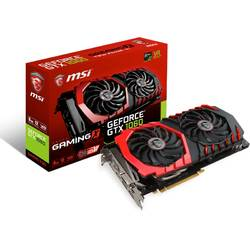 Placa video MSI NVIDIA GeForce GTX 1060 GAMING X 6G, PCI Express x16 3.0, 6144MB, GDDR5 , 129bit, 1506MHz/core clock 1809Mhz