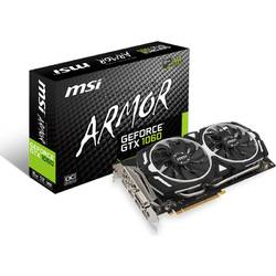 Placa video MSI NVIDIA, GEFORCE GTX 1060 ARMOR 6G OC, PCI Express x16 3.0, 6144MB, GDDR5 , 192bit, 1759 MHz/1544 MHz