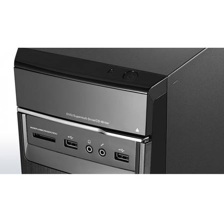 Sistem Desktop PC Lenovo IdeaCentre 300-20ISH MT , i3-6100 3.7GHz, 4GB, 1TB, DVD-RW, Intel HD Graphics, Free DOS, Black, Mouse + Tastatura