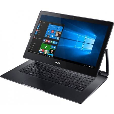 "Laptop 2-in-1 Acer 13.3"" Aspire R7-372T-743X, WQHD Touch, Intel Core i7-6500U (4M Cache, up to 3.10 GHz), 8GB, 512GB SSD, GMA HD 520, Win 10 Home, Gray"