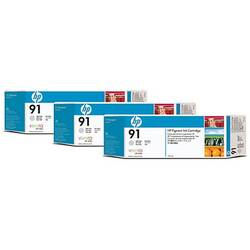 HP C9482A INK 91 CARTRIDGE Light Grey 3X775 ml for:Designjet Z6100, Z6100PS C9482A