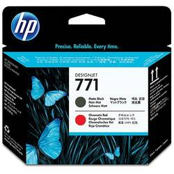 HP CE017A Ink 771 Printhead Matte Black and Chromatic Red, Works with: HP DesignJet Z6200 CE017A