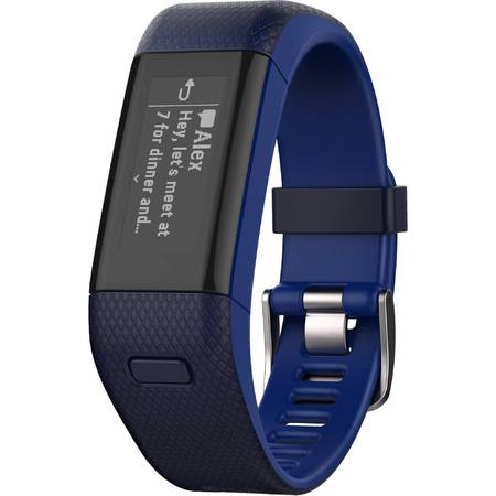 Bratara Fitness Garmin Vivosmart HR + (Black-Gray / Regular)
