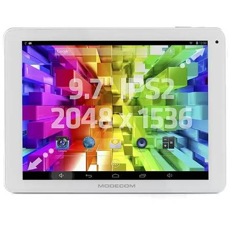 MODE_COM Tableta Modecom FreeTAB 9707 IPS2 X4+, 9.7 inch IPS MultiTouch, Cortex A9 Quad Core 1.6GHz, 2GB RAM, 16GB flash, Wi-Fi, Bluetooth, Android 4.2, white
