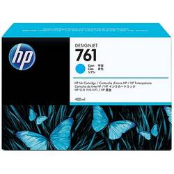 HP CM994A Ink Cartridge 761 Cyan 400 ml, Works with: HP DesignJet T7100 Printer series CM994A