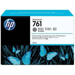 HP CM996A Ink Cartridge 761 Dark Gray 400 ml, Works with: HP DesignJet T7100 Printer series CM996A