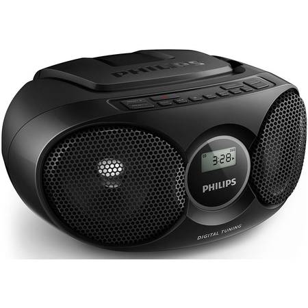 Microsistem Philips AZ215B, CD player,3W, Negru