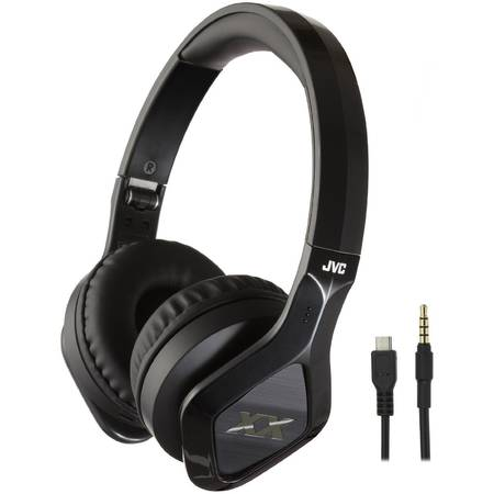 Casti audio JVC HA-SBT200X-E, wireless, tip DJ