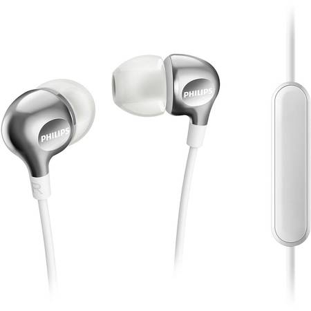 Casti audio in-ear cu microfon Philips SHE3705WT/00