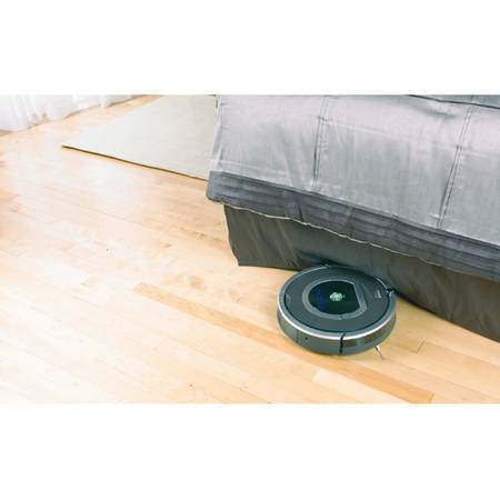 Robot de aspirare iRobot Roomba 782, Antiangle, Wall Follow, Filtru Hepa, Program SPOT,Argintiu/Negru