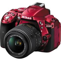 Aparat foto DSLR Nikon D5300, 24.2 MP Red + Obiectiv AF-P 18-55mm VR