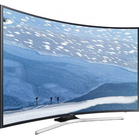 Televizor LED Curbat Samsung, 163 cm, 65KU6172, 4K Ultra HD, Smart