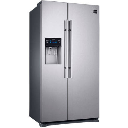 Frigider Side by Side Samsung RS53K4400SA, No Frost, 535 l, A+, Display, Dozator, Ice Maker, Grafit metalizat