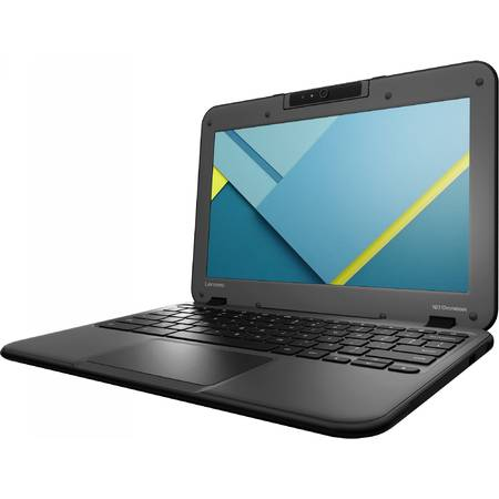 "Laptop Lenovo N22-20 Chromebook Intel Celeron N3050 1.6GHz, 11.6"", 2GB, 32GB eMMC, HD Graphics, Chrome OS, Black"