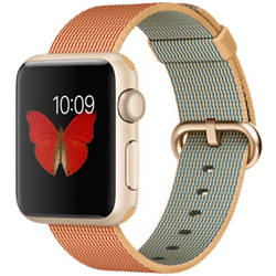 Apple Sport Watch 1 Aluminiu Auriu 38 MM Si Curea Sport Rosie