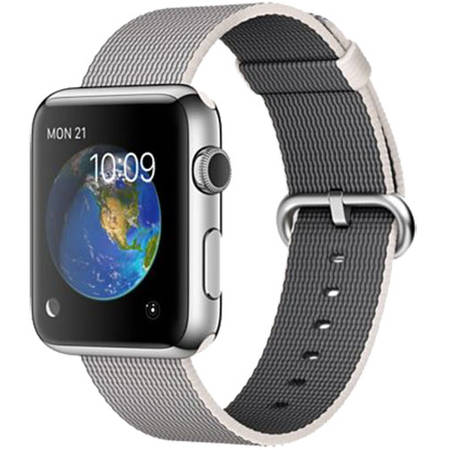Apple Watch 1 Otel Inoxidabil Argintiu 42 MM Si Curea Argintie Pearl