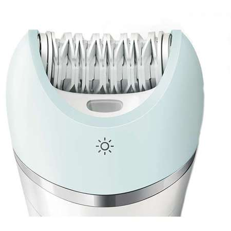 Philips Epilator Satinelle Advanced Wet & Dry BRE620/00, acumulator, discuri ceramice, alb
