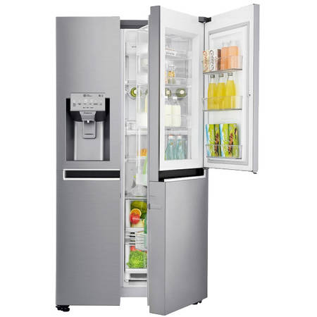 Side by Side LG Door in Door GSJ960PZBZ No Frost, 601 L, Clasa A++, H 179 cm, Inox