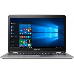 "ASUS Laptop 2-in-1 15.6"" VivoBook Flip TP501UQ, FHD Touch, Intel Core i5-6200U (3M Cache, up to 2.80 GHz), 4GB, 1TB, GeForce 940MX 2GB, Win 10 Home, Silver Gray"
