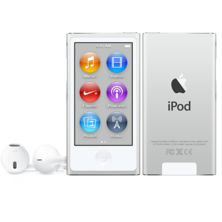 Apple iPod nano 16gb white  silver