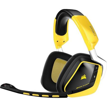 Corsair VOID Wireless SE gaming headset 7.1, RGB lighting, reciver dock - yellow