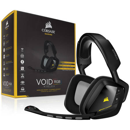 Corsair VOID Wireless gaming headset 7.1, RGB lighting, CUE control - Black