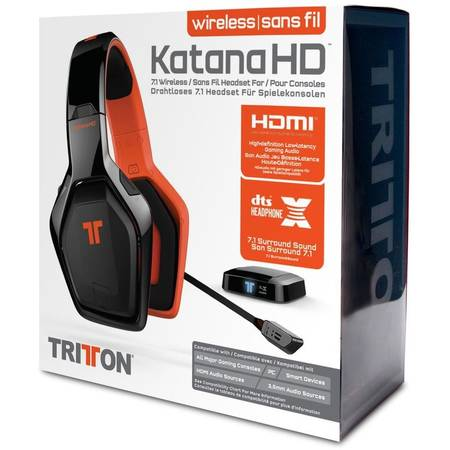 Saitek Mad Catz Tritton headset KATANA 7.1 Wireless Surround Sound - Black