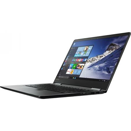 Laptop 2-in-1 Lenovo 14'' Yoga 710, FHD Touch, Intel Core i5-7200U, 8GB, 512GB SSD, GMA HD 620, Win 10 Home, Black