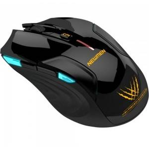 Mouse Gaming Newmen E500 Black Wireless