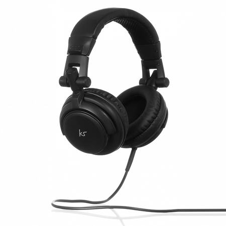Casca cu fir stereo KitSound DJ, Over-Ear, Black